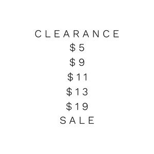 Closet Clearance!